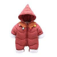 2018 New Brand 30 Winter Jumpsuit Baby Thicken Snowsuit Snow Wear Coats Boy Warm Romper Down Cotton Girl Bodysuit Baby Clothes