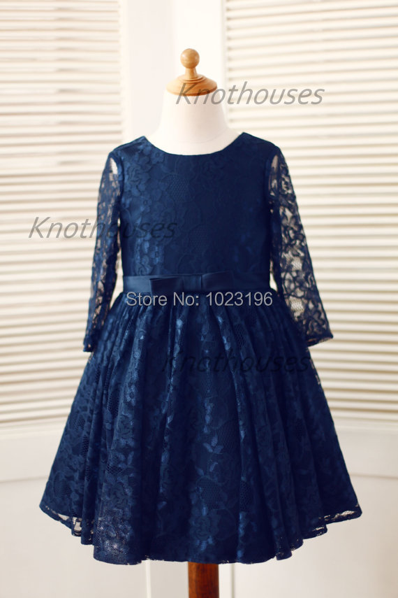 Compare Prices on Navy Blue Flower Girls Dress- Online Shopping ...