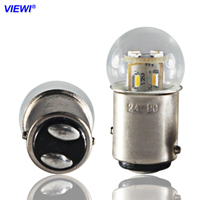 S25 1157 BAY15D led auto lichter 6v 12v 24v 36v 48v Doppel kontaktieren licht 1,5 W glas abdeckung IP65 Auto Blinker Brems stopp Lampe