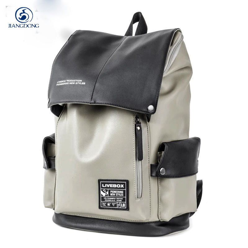 2017British style High Quality Pu leather Unisex Backpack Men Backpacks Solid Vintage School Laptop Bag Daily Backpack Tote Bags chic canvas leather british europe student shopping retro school book college laptop everyday travel daily middle size backpack