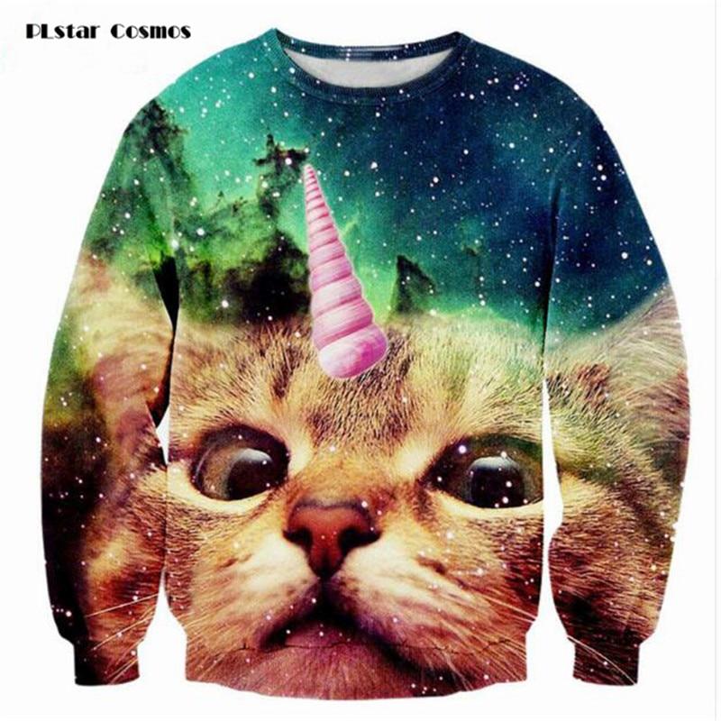 PLstar Cosmos 2018 Fashion Men/women's Unicorn Cat s