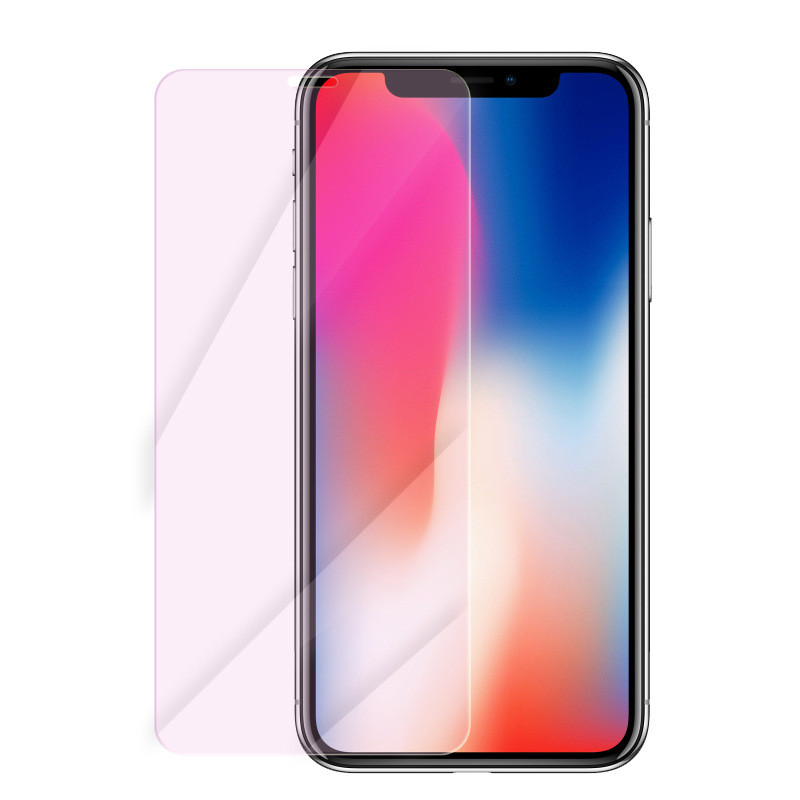 iPhone XS Eyecare Purple Screen Protector for iPhone 8 Xr Xs XsMax Tempered Glass and iPhone Full Series Screen Protector