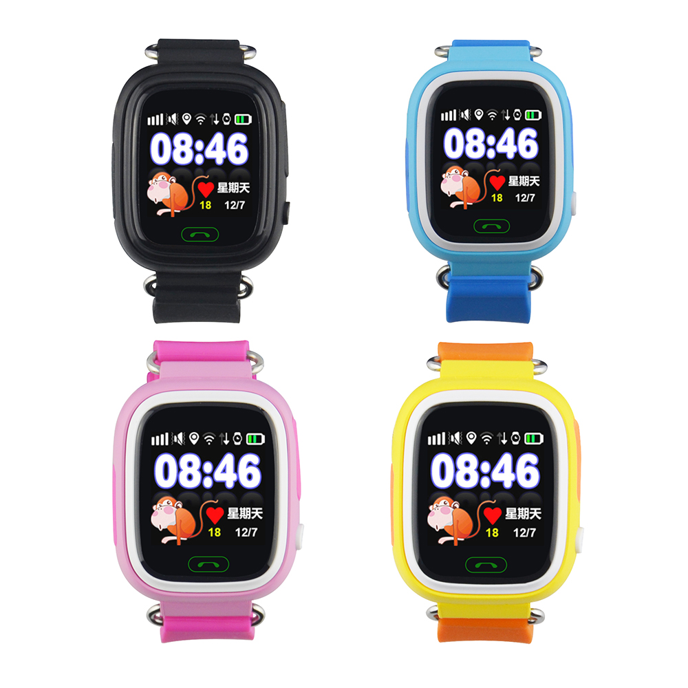 Smart baby WIFI Touch Screen Watch Q90 GPS Tracker Locator safe Anti Lost reminder SOS Voice