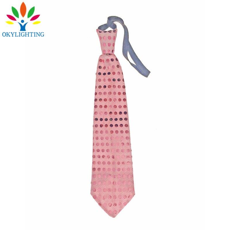 5pcs / lot vodio svjetleći vrat kravata Mixcolor treperi muško / - Za blagdane i zabave - Foto 3