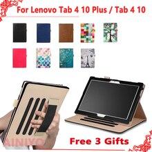 Case For Lenovo TAB4 Tab 4 10 TB-X304L TB-X304F/N Smart Cover For Lenovo Tab 4 10 Plus TB-X704F/N Funda Tablet Hand Holder Shell