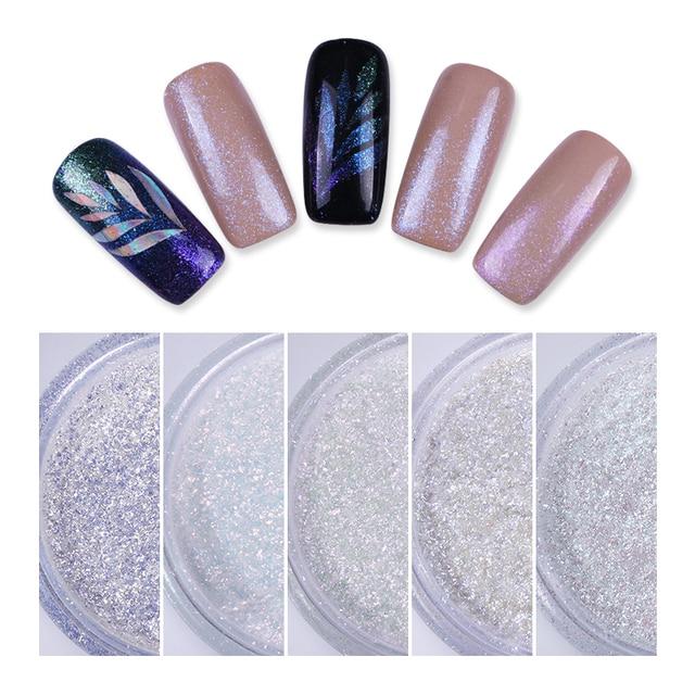 1 Box Super Shining Nail Glitter Laser Shimmer Nail Art Chrome ...