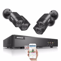 ANNKE HD 16CH CCTV System 5IN1 1080N DVR 4pcs 720P 1500TVL IR Outdoor Waterproof Security Cameras