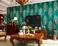 Beibehang 3d wallpaper Südostasiatischen Stil Pfauenfeder Tapete Schlafzimmer Wohnzimmer TV Hintergrund tapeten wohnkultur