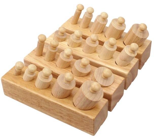 1-3 ans blocs en bois Montessori enseignement sida Intelligence de la petite enfance jouets éducatifs enfants apprentissage éducation enfants cadeau - 4