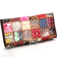 SUONAYI Brand 3 Fold Genuine Leather Women Wallets Coin Pocket Female Clutch Travel Wallet Portefeuille Femme