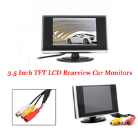 3 5 Inch TFT LCD Car Reverse Monitor DVD Monitor HD Mini LCD Display Monitor For