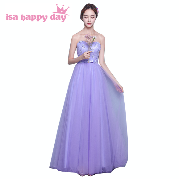 women bridemaid teen girls party   dress   married lavender long beautiful faironly sleeved   bridesmaid     dresses   for women H3902