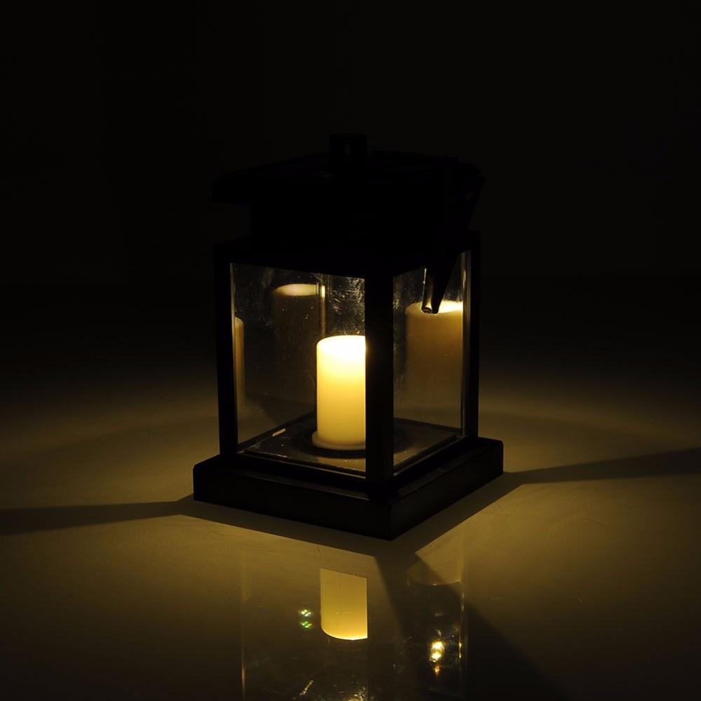 Solar Landscape Lantern Lights: LED Vintage Solar Candle Lamp Waterproof Outdoor Desk