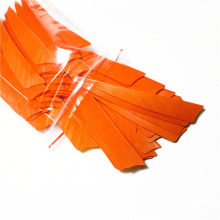 200pcs High Quality 4 inch Shield Shaped Orange Feathers Archery Hunting And Shooting Arrows And Arrows Accessories F-107
