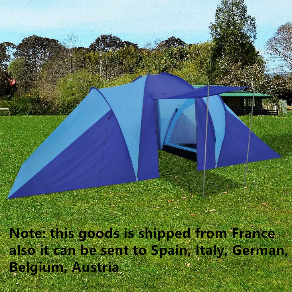 Nouvelle tente de Camping bleu marine/bleu clair 6 personnes en plein air imperméable Camping randonnée tente imperméable grande famille tentes