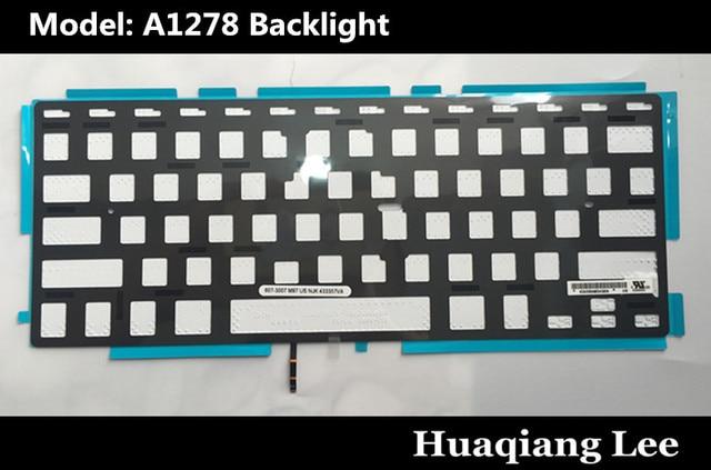 Best Quality Laptop US Keyboard Backlight For Macbook Pro 13'' A1278 Keyboard US Backlight
