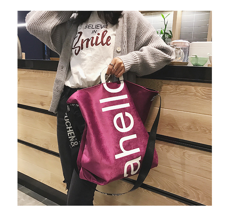 HTB1GPXQXvvsK1Rjy0Fiq6zwtXXaO - New Large-capacity Velvet Handbag Fashion Lady Letter Shoulder Crossbody Bag High Quality Women's Shopping Bag Tote