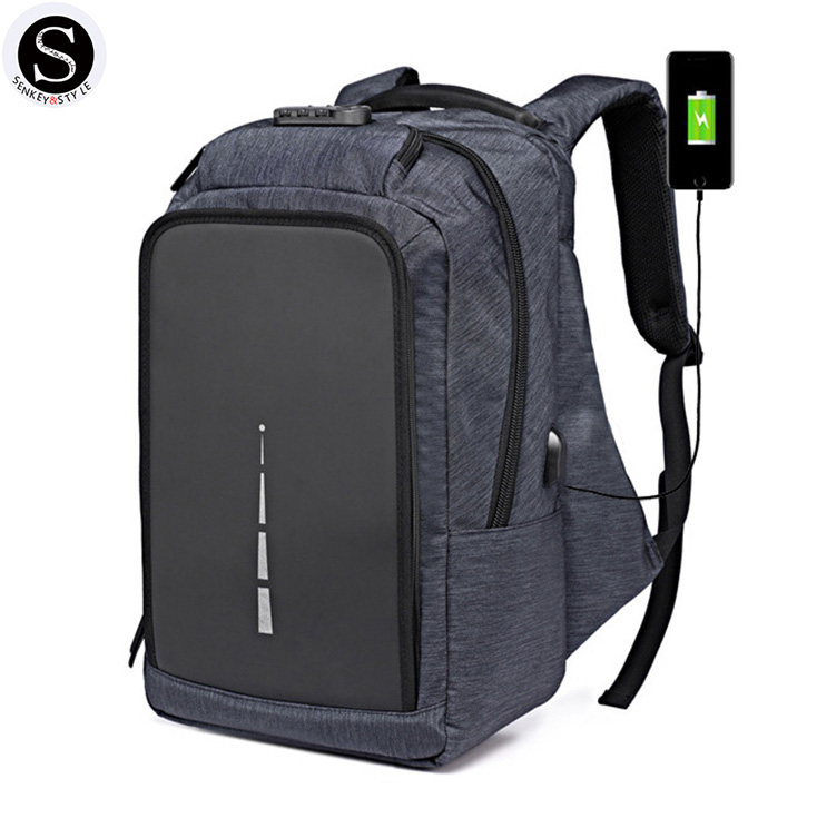 Senkey Style Men Backpack Waterproof Anti-theft Password Lock USB Charge 15.6 Inch Big Laptop Backpack School Bags For Teenagers senkey style usb charge men backpacks anime luminous school backpack bag for teenager anti theft laptop backpack travel mochila
