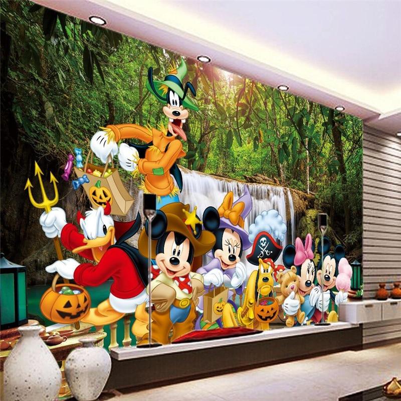 Foto Background Wallpaper Fotografi Minnie Kartun Anak Ruang Playground Wall
