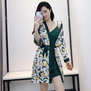 Image 5 - Daeyard Conjunto de pijama para mujer, camisón de seda, lencería Sexy