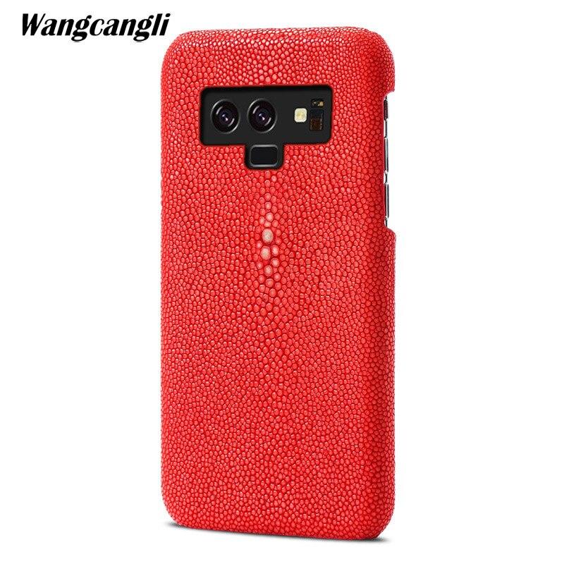 Marque véritable peau de serpent coque de téléphone pour Samsum galaxy S8 étui téléphone couverture arrière étui de protection en cuir téléphone pour samsung s9 étui