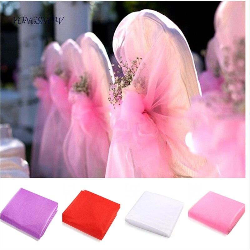 10 Metre Rolls of 28cm Organza Fabric Wedding Craft Flower Wrap Sash
