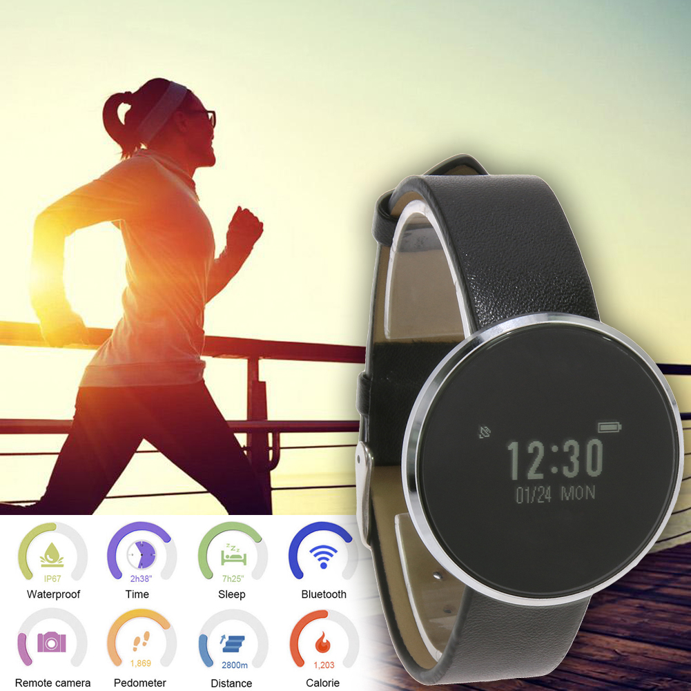 Waterproof 0 96 Smart Band Blood Pressure Monitor Heart Rate Sleep Tracker Smart Wristband Toughened Glass