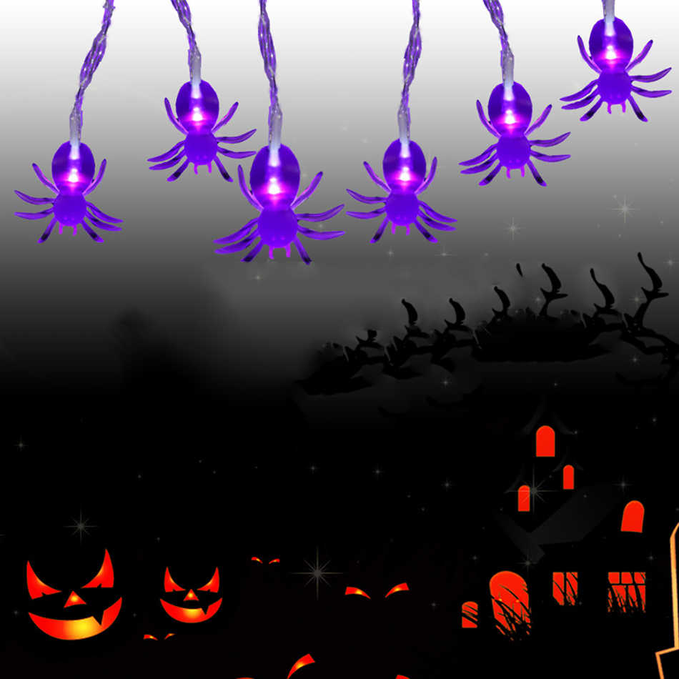 Halloween Spider Led String Light 3Meter 20Leds Powered By AA battery,Hallowen Led Light,Hallowen Party Decoration