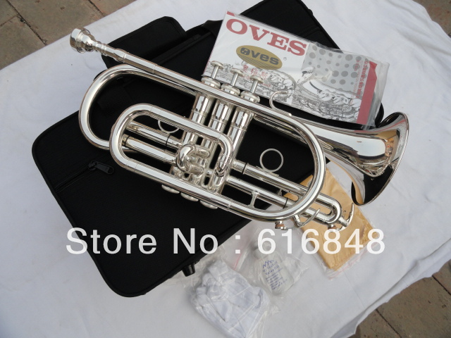 Direct Selling B The Cornet Trumpet Instrument Brass Tube Surface Silver Plating Ttrumpet Brand Quality For Sthdents With Case trumpet bb bach trumpet for sale lt180s to 37 instrument b surface silver plating exquisite design durable wholesale 2016 new