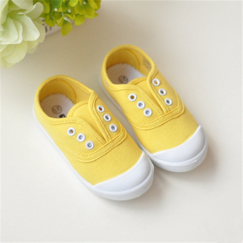 Spring Candy Color Childrens Casual Yeezy Baby Shoes Toddler Sneakers Jordan Boys Girls Canvas Shoes