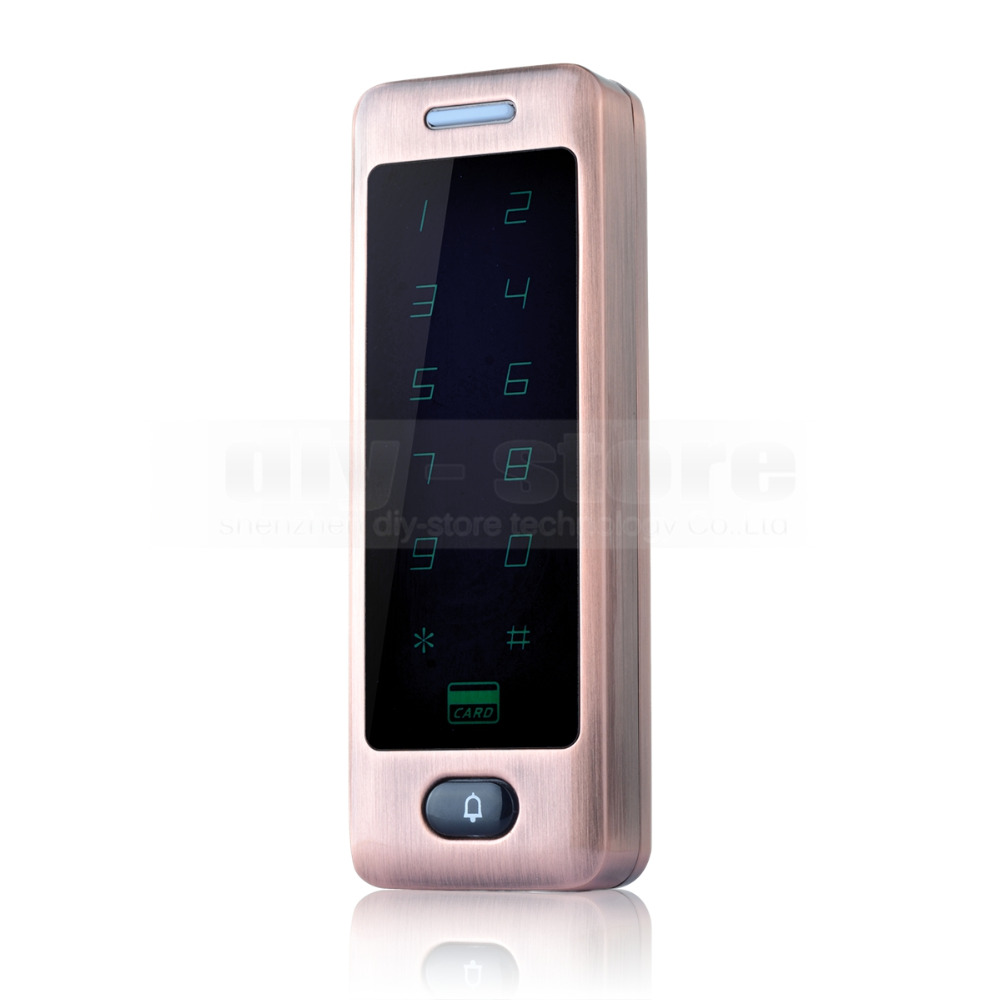 ФОТО DIYSECUR Touch Button 125KHz Rfid Card Reader Door Access Controller System Password Keypad + Door Bell Button