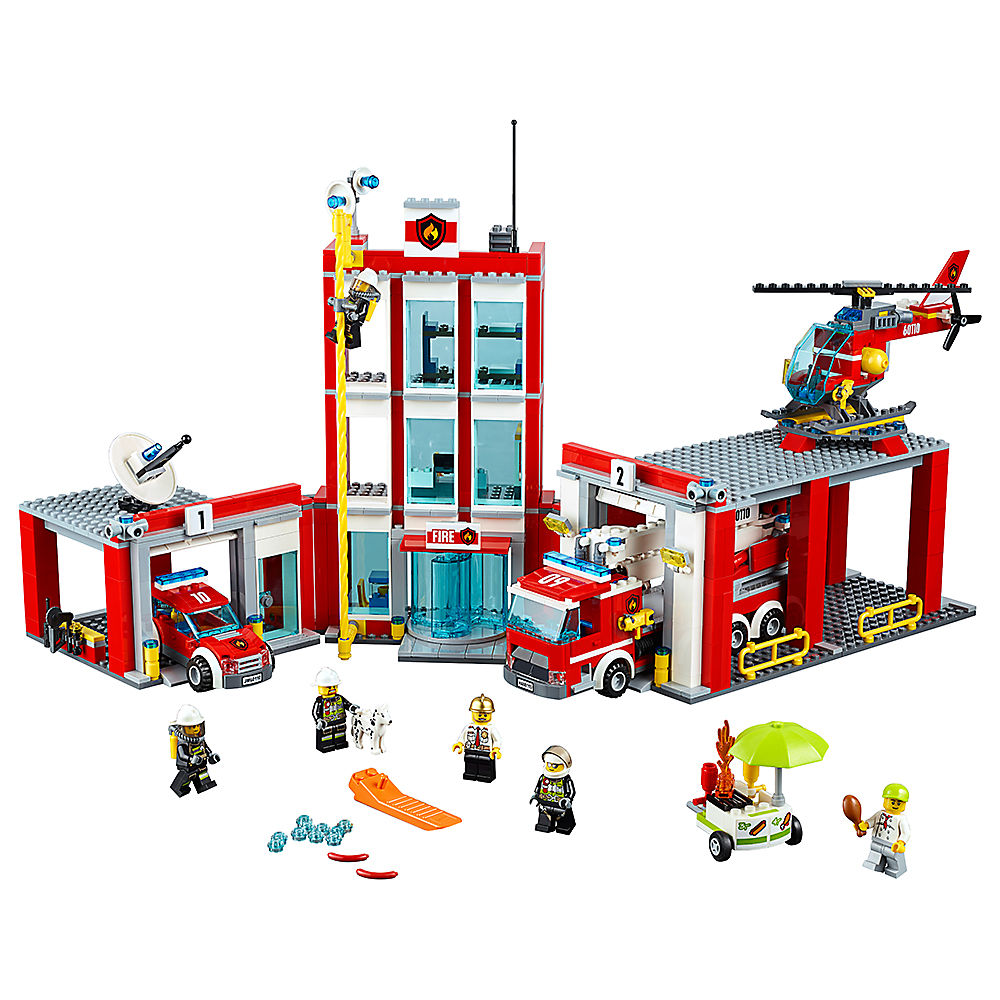 Fire Station Compatible Legoe City Fire 60110 Model Building Blocks Bricks toys for Childrens kid Boy gift 1029PcsFire Station Compatible Legoe City Fire 60110 Model Building Blocks Bricks toys for Childrens kid Boy gift 1029Pcs