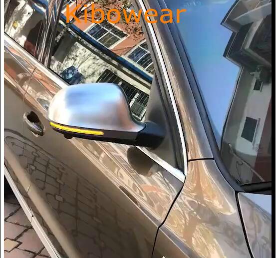 KIBOWEAR Dinamica Lampeggiante Luce Dello Specchio per Audi A6 C6 4F A4 A5 B8 Q3 SQ3 A3 8 p S4 S5 s6 Laterale LED Indicatori di Direzione Indicatore di A8 D3 8 k