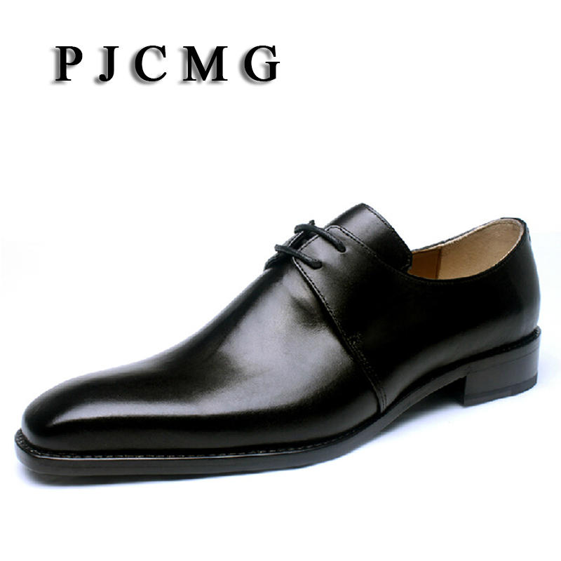 PJCMG Customize Italian Style Handmade Tassel Men's Leather Shoes Goodyear Pointed Toe Lace up Dress Wedding Prom Oxfords Shoes customize italian style handmade men s carved genuine leather shoes goodyear round toe lace up dress wedding prom oxfords shoes