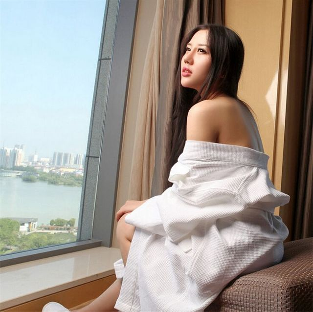 Pijamas Kimono Satijn mujeres Solid Color de la manga completa algodón de la galleta del sueño salón Robes bata Femme Bain Kimono Robe