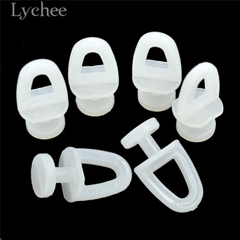 Lychee Life 60pcs Plastic Rail Curtain Hook Rollers 2