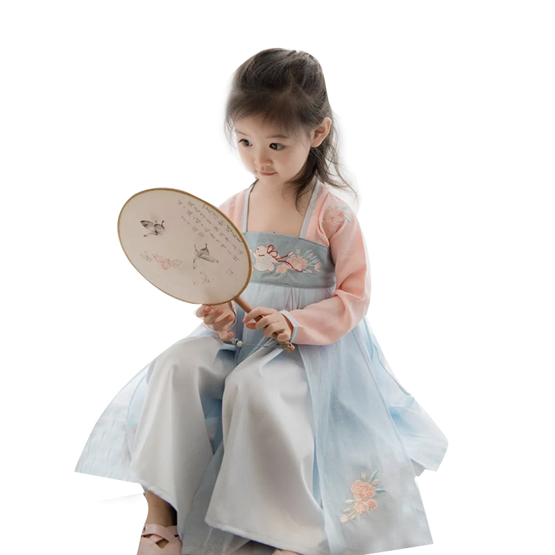 Baby kids Hanfu dresses traditional Chinese Costumes children girls hanfu dress child clothing ancient Party Cosply costume 2017 autumn kids costume girls hanfu stage clothing photography costume song of the goose
