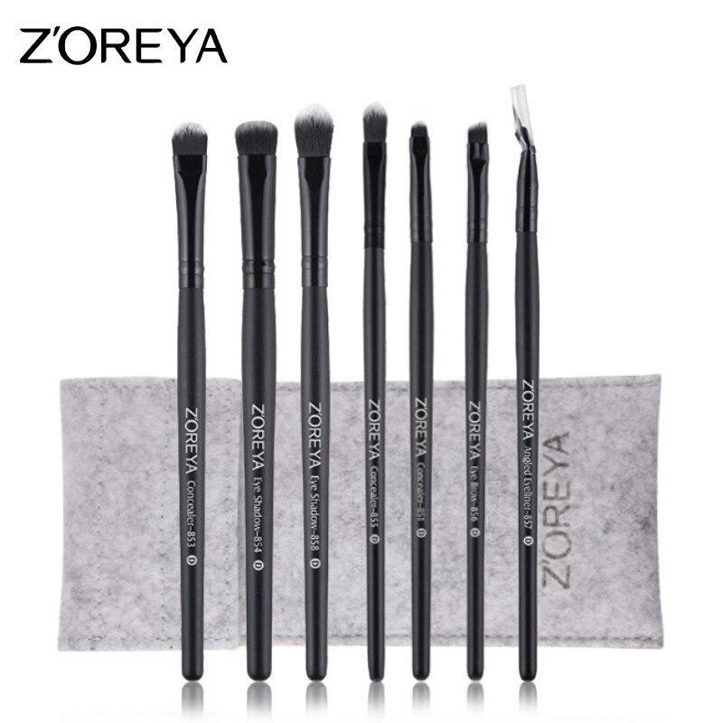 Zoreya 7 Stücke Schwarz Augen Make Up Pinsel Sets Mit Hoher Qualität