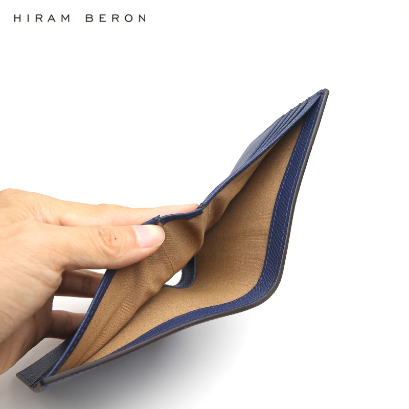 Hiram Beron CUSTOM NAAM SERVICE Mannen Echt Leer Mannen Portefeuilles Business klassieke luxe designer RFID blocking functie neer dropship-in Portemonnees van Bagage & Tassen op  Groep 3