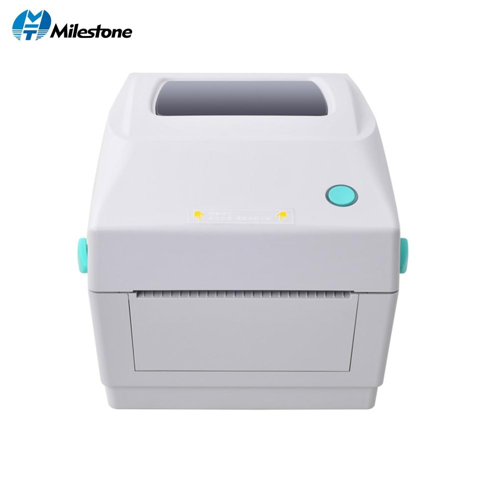 Milestone Shipping Label Printer Thermal Label Barcode Printer NO Need Carbon Belt Ribbon Printer Labeling Machine