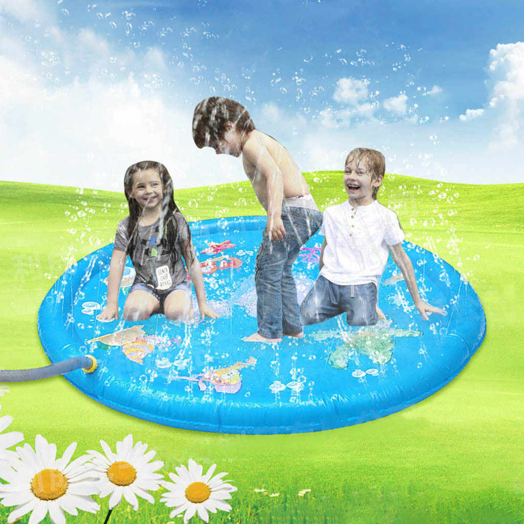 HIINST Kids Outdoor Summer Fun Game Party Toy Sprinkler pad Play Mat Toddler Water Toys 19MAY27 P20