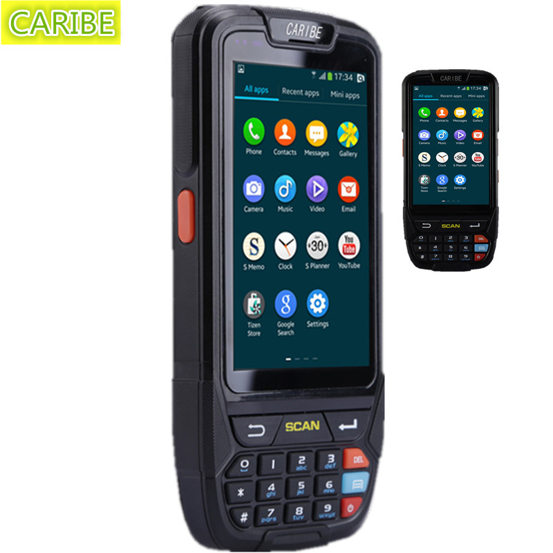 Caribe PL-40L Новый Беспроводной RFID считыватель Портативный 2D Honeywell сканер штрих-кода с 4 г ООО WI-FI gps