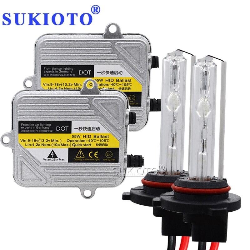 SUKIOTO Fast Bright 55W Xenon H7 HID Kit H4 H1 H11 H8 HB3 HB4 D2S Xenon Hid Ballast Car Light Headlight 4300K 5000K 6000K 8000K