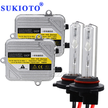SUKIOTO Fast bright 55W Xenon H7 HID Kit H4 H1 H11 H8 HB3 HB4 D2S xenon hid ballast Car Light Headlight 4300K 5000K 6000K 8000K 55w xenon hid kit xenon h7 h4 h1 h3 h8 h9 h11 9005 9006 4300k 6000k 8000k 10000k slim ballast hid xenon kit 55w headlight bulbs