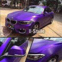 Premium Violet Matte Brushed Chrome Purple Vinyl Foil Bubble Free For Car Wraps Size 1 52
