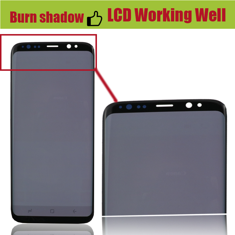 Image 4 - ORIGINAL Burn Shadow S8 LCD with frame for SAMSUNG Galaxy S8 G950 G950F Display S8 Plus G955 G955F Touch Screen Digitizer-in Mobile Phone LCD Screens from Cellphones & Telecommunications
