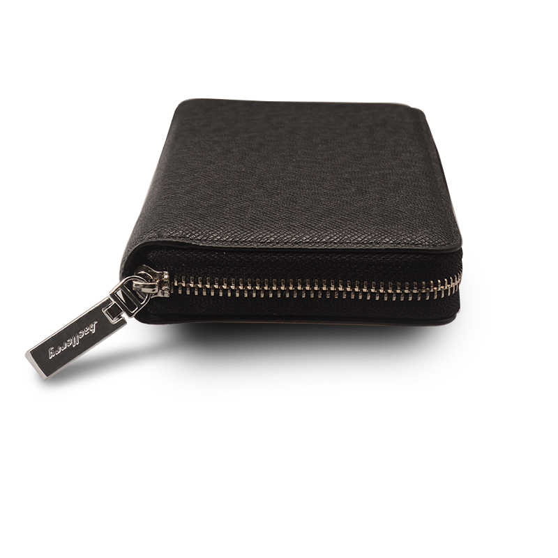 caf9c123a954 ... Портмоне baellerry для мужчин одежда высшего качества кожаный бумажник  кошелек мода повседневное мужской клатч на молнии ...