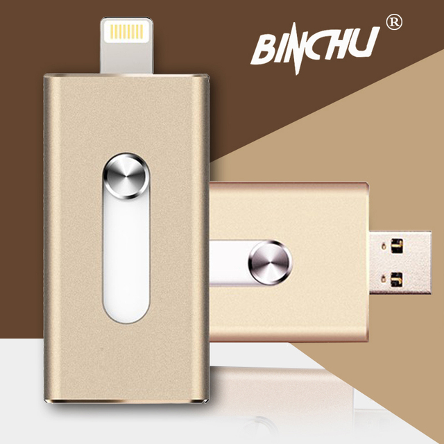 Для iphone 5/5s/5c/6/6 Плюс/ipad Pendrive usb flash Drive 8 ГБ 16 ГБ 32 ГБ 64 ГБ 128 ГБ Micro Usb Pen Drive Молнии/OTG