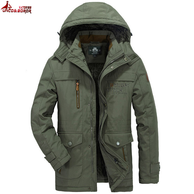 UNCO&BOROR Winter jacket men cotton Padded Parka Coat fleece casual Hooded Warm Windbreaker Overcoat Male Jackets size L~5XL 6XL slinx how 3mm neoprene men kite surfing windsurfing snorkeling spearfishing swimwear wetsuit full body scuba diving suit surfing