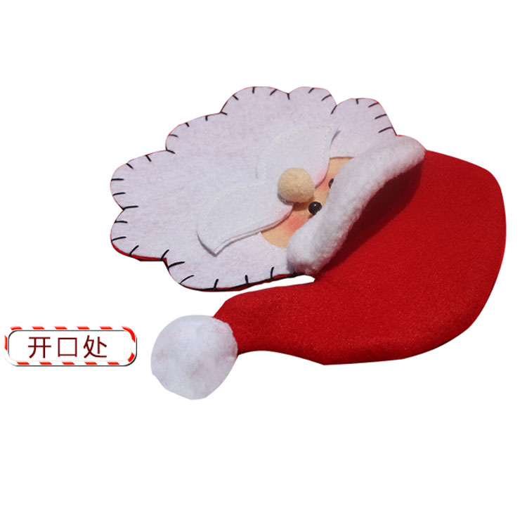 Cutlery Bags Gift Bag Christmas Tree Decorations Santa Silverware Holders Pockets Dinner Party Tableware In Hats From Home